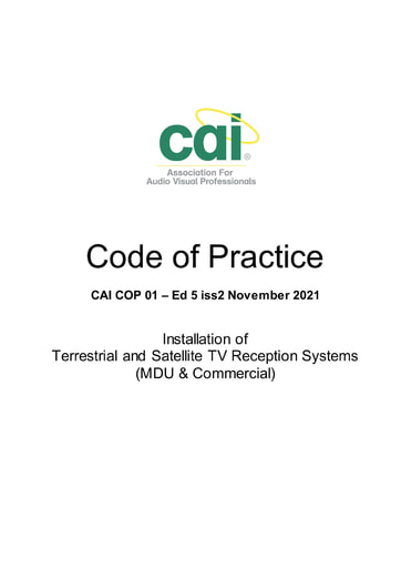COP 01 - Installation of Terrestrial & Satellite TV Reception Systems (MDU & Commercial)
